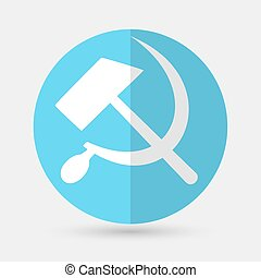 sicklsickle hammer icon  on a white background