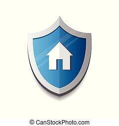 Scudo concetti disegno logotipo sicurezza casa for Aprire piani casa concetto