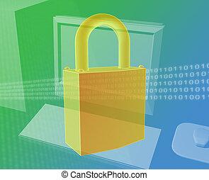 sicurezza, computer