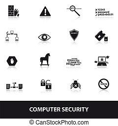 sicurezza, computer, eps10, icone