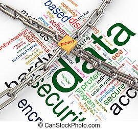 sicurezza, concetto, dati