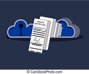 sicurezza, dati, nuvola, calcolare
