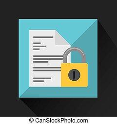 sicurezza, documento, dati, cyber, protezione