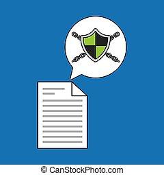 sicurezza, documento, dati, sistema