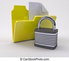 sicurezza, doucment, icona