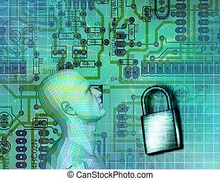 sicurezza, elettronico