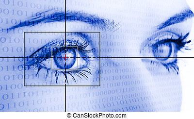 sicurezza, occhio, sistema, identification.