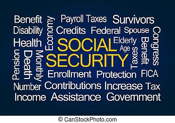 sicurezza, parola, nuvola, sociale