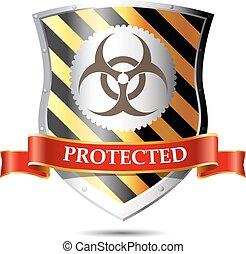 sicurezza, -, scudo, computer, concetto