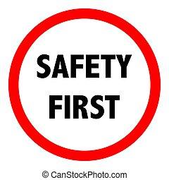 sicurezza, segno., vettore