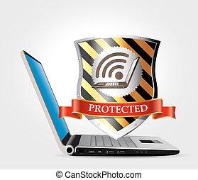 sicurezza, sicurezza, rete, internet, -