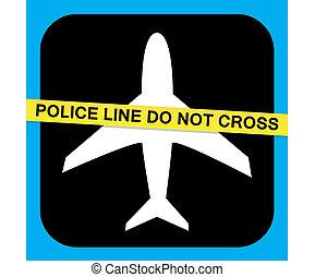 sicurezza, vettore, linea aerea