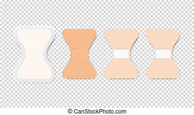 sida, design, bakgrund., transparent, baksida, vektor, sätta...