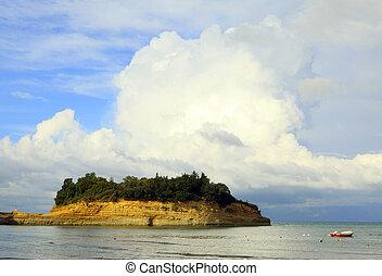 Sidari sandstone and cloud