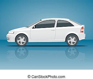 side., błękitny, wszystko, komplet, grupy, oddzielny, kolor, znakowanie, jeden, advertising., elementy, wóz., szablon, auto, sedan, layers., stuknięcie, zmiana, prospekt