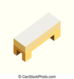 Side Bed Sofa Seat 3D Isometric Furniture Illustration