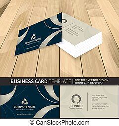 side., business, dos, vecteur, gabarit, devant, carte