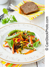 side dish of fried vegetables