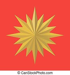 side., doré, multi, médaille, étoile