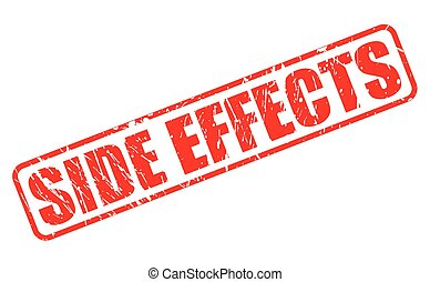 Side effect red stamp text