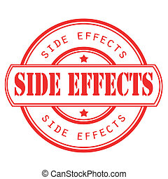 side effects stamp - side effects grunge stamp with on...