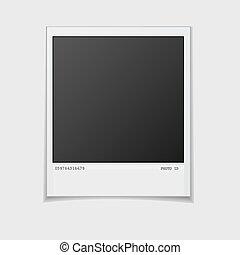 side., illustration., porte-photo, realistic., isolé, figure, arrière-plan., vecteur, vide, blanc