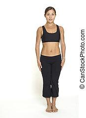Side Leg Raise 1 - A female fitness instructor demonstrates ...