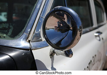 Side mirror. Close up
