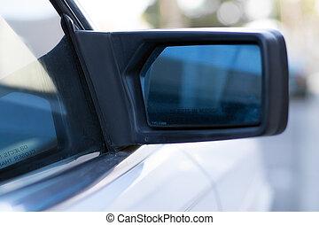 side mirror on car