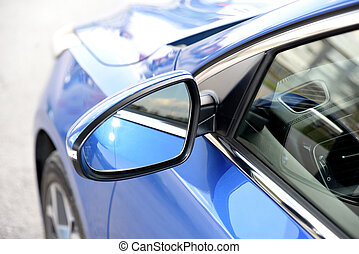 Side mirror with turn signal of a car - Side mirror with ...