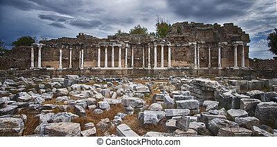 Side Nymphaeum Fountain Ruins 06