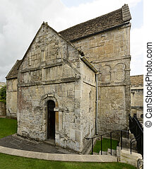 side of Saxon church of st Lawrence, Bradford on Avon