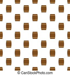 Side of wood barrel pattern seamless