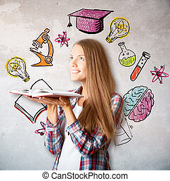 Education and knowledge concept