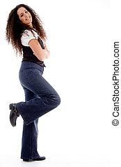 side pose of posing model