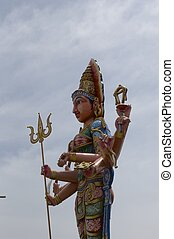 Side profile of a Goddess
