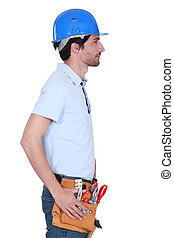 Side profile of a tradesman
