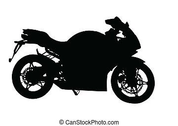 Side Profile of Motorbike Silhouette