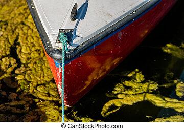 side., sailboat, arco, water., barco pequeno, vista