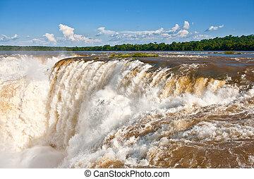 side., sept, unesco, iguazu, nature., nouveau, une, site., chutes, argentin, héritage, mondiale, émerveillements, vue