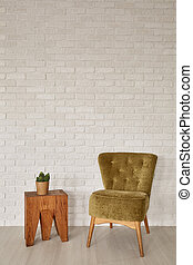 Side table and armchair