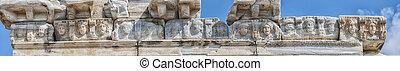 Side Temple of Apollo Facade Detail