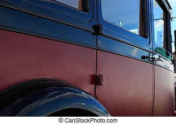 side udsigt, i, klassisk vogn