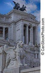 Side View Altare della Patria, Rome Italy