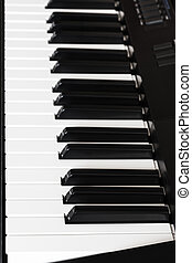side view keys of digital piano