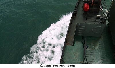 Side-View |Langkawi Ferry Bow Wake, Malaysia - Close-up...