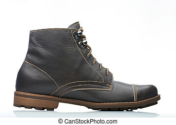 side view leather boot