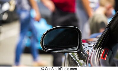 Side-View Mirror Of a Car