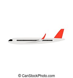 side view of a airplane