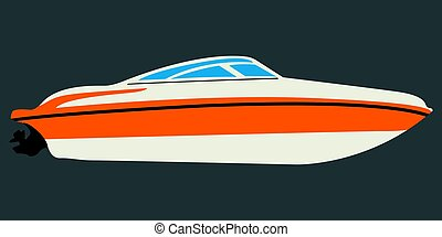 Side view of a boat